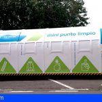 El Cabildo instala un mini punto limpio en San Miguel para fomentar la recogida selectiva de residuos