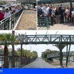 Se abre al público la nueva pasarela peatonal de Los Cristianos
