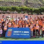 Una treintena de jóvenes participan en el XXV Campeonato Insular de Atletismo en Pista de La Gomera