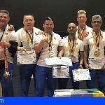 Granadilla. La selección canaria de lucha de brazos brilla con luz propia en el Campeonato de España