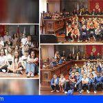 Alumnado del CEIP Aldea Blanca, San Miguel Arcángel y El Monte protagonizan un Pleno Juvenil