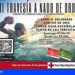 """Cruz Roja abre el plazo de inscripción para la """"II Travesía a Nado de Oro"""" en la Playa de Las Teresitas"""