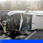 Bomberos de Tenerife intervienen en un accidente de tráfico en Arafo