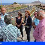 Las obras de asfaltado de la carretera de El Médano finalizará en tres semanas