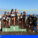 La Gomera. Una quincena de jóvenes participan en el Campeonato Insular de Voley-Playa