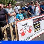 Stop a las carreras ilegales que se producen en la carretera Los Loros en Arafo