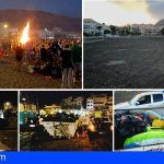 Recogen en Arona siete toneladas de residuos en la noche de San Juan