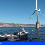 El primer aerogenerador marino de España destaca el potencial de Canarias en energía marina