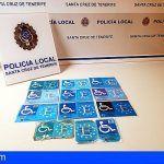 Tenerife. Detectadas otras 11 tarjetas fotocopiadas para aparcar ilegalmente en reservados PMR