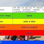 Avisos Naranja y Amarillo por altas temperaturas en las islas