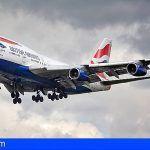 British Airways duplicará la capacidad aérea con Tenerife Sur durante la próxima temporada de invierno