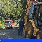 La Gomera. Avanzan las obras de la carretera entre Juego de Bolas y La Laguna Grande