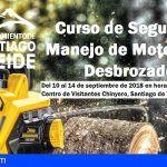 Santiago del Teide. La AEDL organiza un curso de Seguridad y Manejo de Motosierra y Desbrozadora