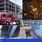 Se produce el noveno incendio en el edificio abandonado en Los Cristianos