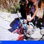 Los bomberos rescatan un perro en Santa Cruz de Tenerife