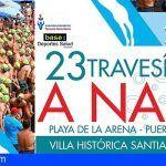 Más de 250 nadadores participarán en la Travesía a Nado de Santiago del Teide 2018