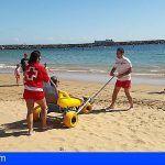 Cruz Roja cuenta con servicio de baño adaptado en diversas playas de la provincia tinerfeña
