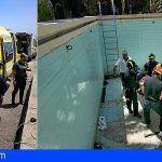 Rescatan a una persona que sufrió una caída a una piscina vacía en Barranco Hondo