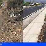 Arona exige al Cabildo que mantenga en condiciones de limpieza y mantenimiento los márgenes de carreteras