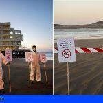 Greenpeace clausura tres playas contaminadas, La Tejita, El Médano y Güímar