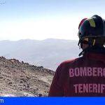 Bomberos rescatan a un senderista en el refugio de Altavista en el Parque Nacional del Teide