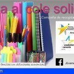 Los Jóvenes Nacionalistas de Arona inician una campaña de recogida de material escolar