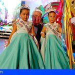 Las niñas Martina Trujillo y Yamilet Gigante, Reina y Romera infantil de Arafo 2018