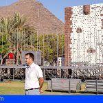 Comienza la instalación del escenario principal de las Fiestas Lustrales de La Gomera 2018