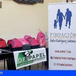 Doce familias de Granadilla se benefician de la entrega de material escolar por la Fundación Pedro Rodríguez