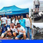 Jóvenes de Santiago del Teide colaboraron en la limpieza de la costa con motivo del Día Mundial de la Limpieza