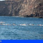 La Gomera | Sesenta nadadores participan en la Travesía a Nado a Puntallana de las Fiestas Lustrales