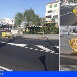 Vecinos de la calle Olimpia en Costa del Silencio piden que retiren una valla que obstaculiza el tráfico