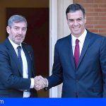Fernando Clavijo y Pedro Sánchez desbloquean la Agenda Canaria tras su encuentro en Moncloa