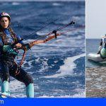 Movistar organiza un clínic de kitesurf con Gisela Pulido en El Médano