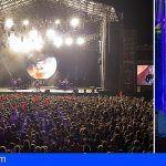 Miles de gomeros corean los éxitos del cantante Juanes