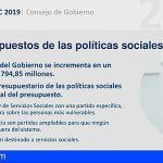 El Gobierno de Canarias aprueba un presupuesto social dirigido a las personas y colectivos más vulnerables