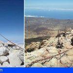 Acondicionan el sendero Telesforo Bravo del Parque Nacional del Teide