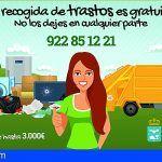 Guía de Isora recuerda que la recogida de trastos es gratuita