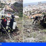Accidente de tráfico en la ladera de Los Campitos, Santa Cruz de Tenerife