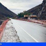 Instalan en La Gomera semáforos móviles para regular el tráfico en el cruce de Las Orijamas
