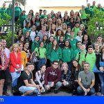 Sesenta estudiantes del Erasmus y de Granadilla defiende los valores de la tolerancia hacia las religiones