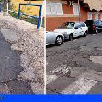 Cs Granadilla pide a CC y PP un plan de acción para acabar con el mal estado de las vías en Los Abrigos