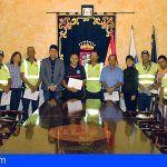 Santiago del Teide entrega los diplomas del curso de Seguridad y Manejo de Motosierra y Desbrozadora