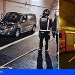 Bomberos de Tenerife extinguen un vehículo en el interior del túnel del Bicho