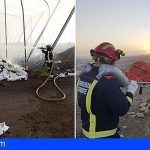 Los bomberos extinguen un incendio en Granadilla y rescatan en Montaña Pelada a una persona