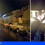 Un incendio en una nave en el Polígono de Güímar calcinó 22 vehículos