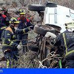 Herido de carácter grave en Vera de Erques tras precipitarse con su vehículo por un barranco