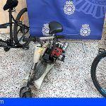 Sustrajeron en Santa Cruz tres bicicletas y un patinete a motor valorado en más de 3000 euros