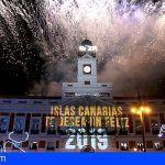 """Miles de personas celebran el """"fin de año canario"""" en la madrileña Puerta del Sol"""