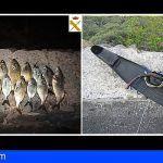 La Guardia Civil denuncia a 6 personas por múltiples infracciones a la normativa de pesca en Canarias
